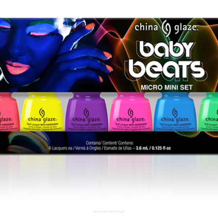 Zestaw China Glaze Baby Beats 3,6 ml