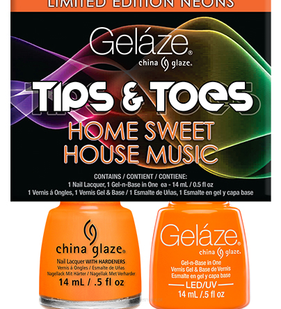 Zestaw Gelaze + China Glaze Home Sweet Home Music 14ml